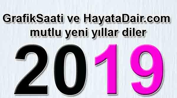 Hazır mıyız? Yeni yıl 2019  planları Yazan: Banu Conker