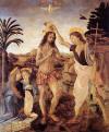 Andrea del Verrocchio ve Leonardo, �sa�nin Vaftizi, 1472-1475