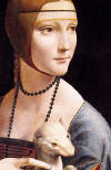 Cecilia Gallerani Portresi (Erminli Kad�n) Detay