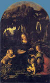 Kayal�klar�n Meryem'i (Meryem ve �sa, bebek Aziz John ve bir melek), 1483-1486