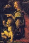 Kayal�klar�n Meryem'i (Meryem ve �sa, bebek Aziz John ve bir melek), 1483-1486 Detay