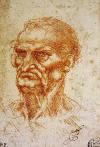 Leonardo Da Vinci Ya�l� Erkek Ba��, 1505