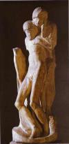 65- Pieta Rondanini, unfinished. 1564. Marble. Castello Sforzesco, Milan, Italy