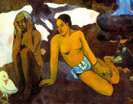 Where Do We Come From What Are We Where Are We Going - Old Woman and Young Woman - Detail