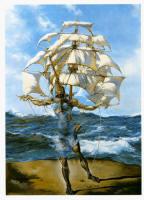 Ship, Yelkenli gemi, tekne salvador dali