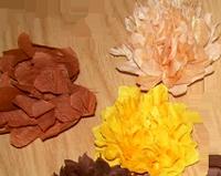 Elişi krapon çiçek yapım modelleri