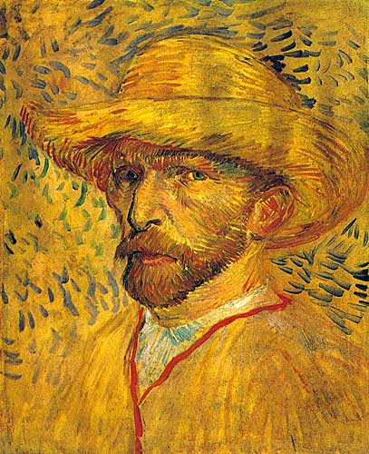 Vincent Van Gogh  Self Portrait with Straw Hat, Paris, Summer 1887