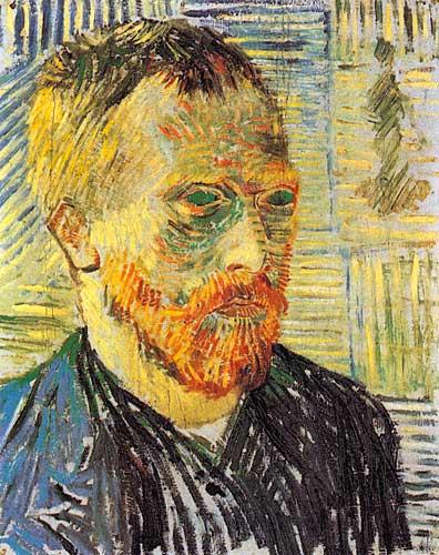 Van Gogh  Self Portrait with a Japanese Print Paris December 1887