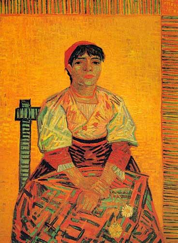 Vincent Van Gogh  Italian Woman Agostian Segatori Paris December 1887