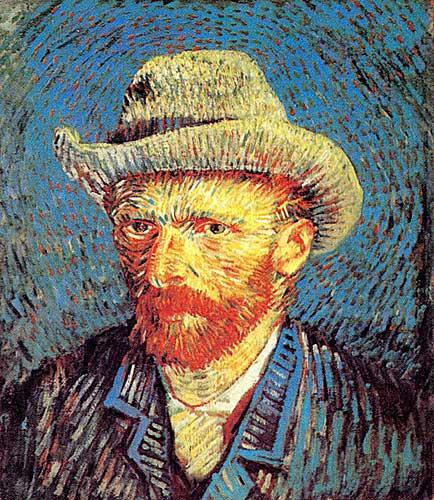 Vincent Van Gogh 30 Self-Portrait with Grey Felt Hat, Paris Winter ...