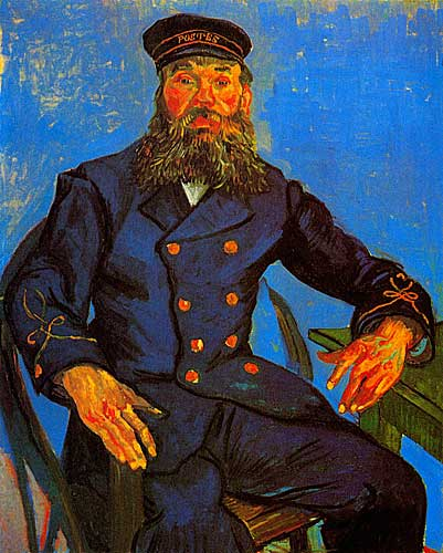 Vincent Van Gogh  Portrait of Postman Joseph Roulin, Arles, early August 1888
