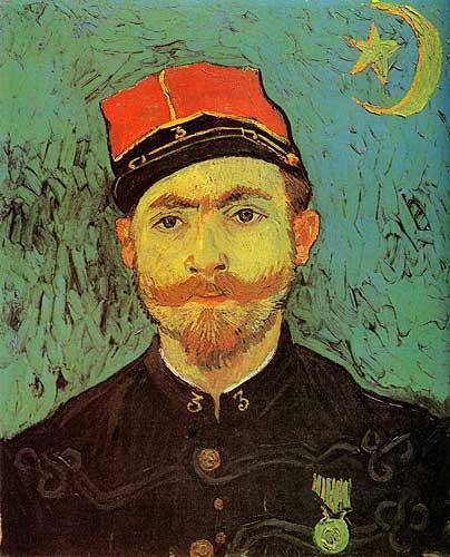 Van Gogh  Portrait of Milliet Second Lieutenant of the Zouaves Arles late September 1888