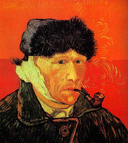 Vincent Van Gogh  Self-Portrait with Bandaged Ear and Pipe, Arles, January 1889