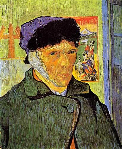 Vincent Van Gogh  Self Portrait with Bandaged Ear, Arles, January 1889