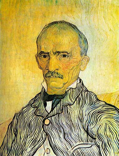 Vincent Van Gogh Portrait of Trabuc an Attendant at Saint-Paul Hospital Sainte-Remy September 1889