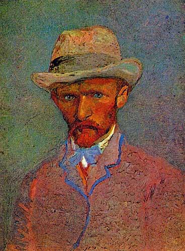 Van Gogh Self - Portrait with Grey Felt Hat Paris, March April 1887