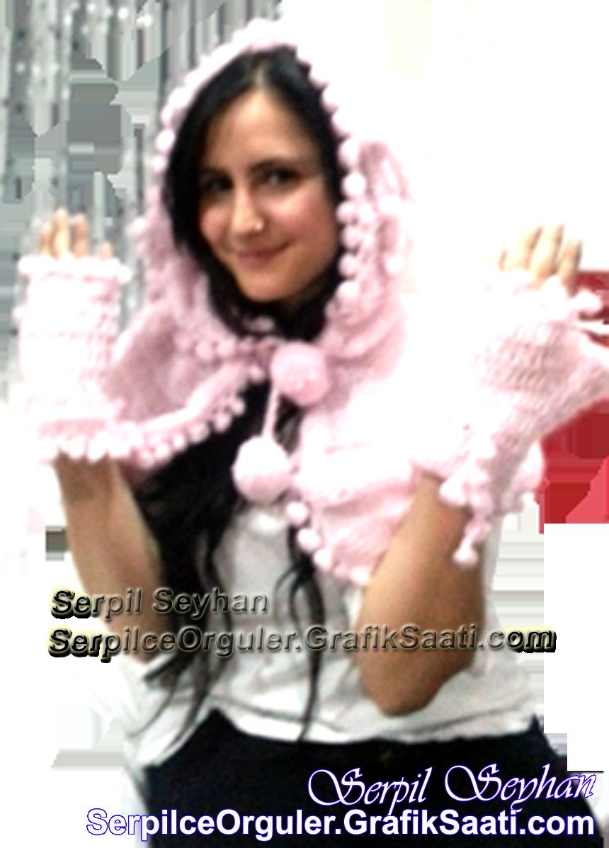 Serpilce.ile Serpilce örgüler örgü resimli kırmızı başlıklı kız şapkası ve eldiven örgü modeli