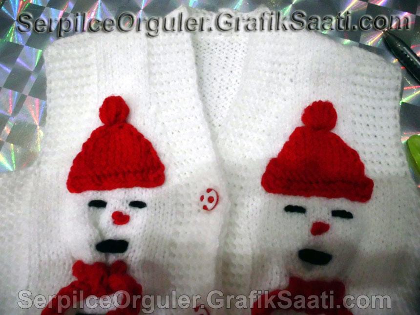 Serpilce.ile Serpilce örgüler örgü Bebek ve çocuklara özel, kardan adam yelek örgüleri 2