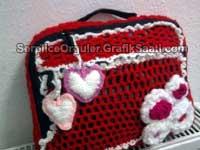 Serpilile Serpilce örgüler örgü laptop çantası