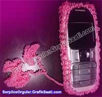 Serpilile Serpilce örgüler | Eski model cep telefonları için özel bir örgü kılıf örneği
