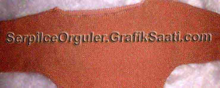Serpilce.ile Serpilce örgüler örgü modelleri örnekleri modelli örgüler Bir adet somon rengi reklam kollu kazak
