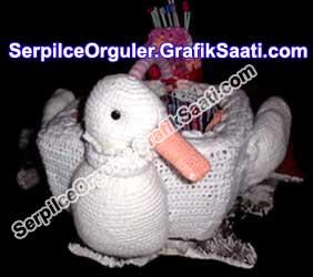 Serpilce.ile Serpilce örgüler kuğulu örgü sepet