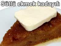 Sütlü ekmek kadayıfı tarifi